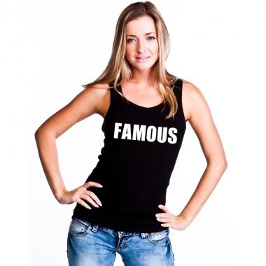Goedkope famous mouwloos shirt zwart voor dames