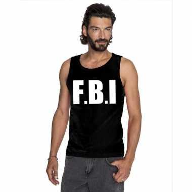Goedkope fbi mouwloos shirt zwart voor heren
