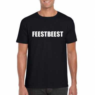 Goedkope feestbeest fun t shirt zwart voor heren