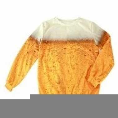 Goedkope feestkleren bierprint trui voor volwassenen