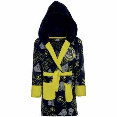 Goedkope fleece badjas star wars navy/geel voor jongens