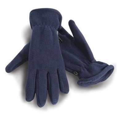 Goedkope fleece handschoenen blauw voor volwassenen