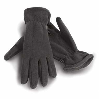 Goedkope fleece handschoenen grijs voor volwassenen