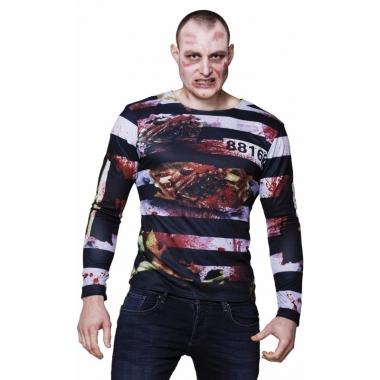 Goedkope fotorealistische zombie gevangene shirt