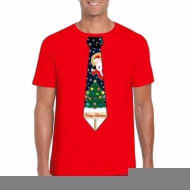 Goedkope fout kerst shirt rood kerstboom stropdas voor heren