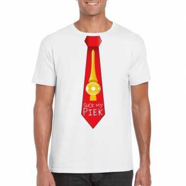 Goedkope fout kerst shirt wit suck my piek rode stropdas voor heren