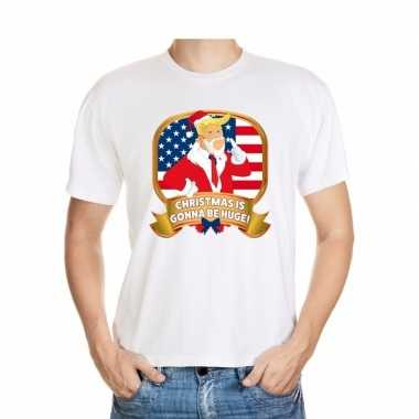 Goedkope foute kerst shirt donald trump wit christmas is gonna be hug