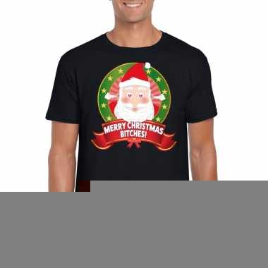 Goedkope foute kerst shirt merry christmas bitches heren