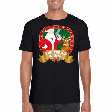 Goedkope foute kerst shirt run rudolf heren