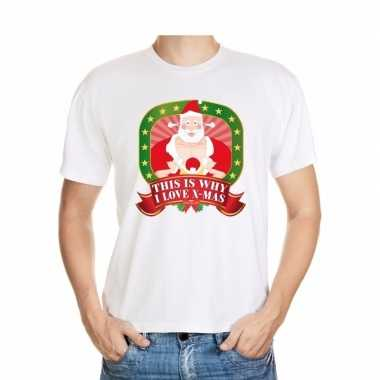 Goedkope foute kerst shirt this is why i love x mas heren