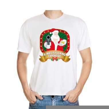 Goedkope foute kerst shirt wit x mas is fucking expensive voor heren