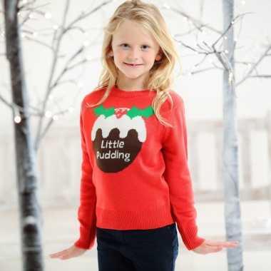 Goedkope foute kersttrui cupcake voor kids