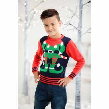 Goedkope foute kersttrui elfje voor kids