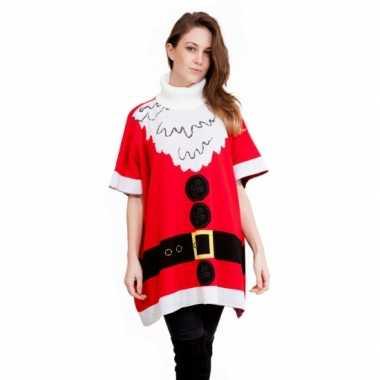 Foute Kersttrui Dames Goedkoop.Goedkope Foute Kersttrui Kerstman Poncho Goedkope Kleren Nl