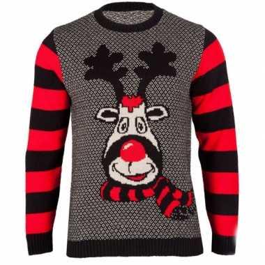 Goedkope foute kersttrui rudy reindeer voor dames