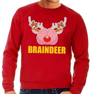 Goedkope foute kersttrui / sweater braindeer rood voor heren
