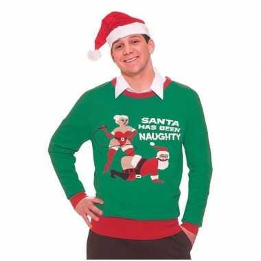 Foute Kersttrui Dames Goedkoop.Goedkope Foute Kersttruien Naughty Santa Goedkope Kleren Nl