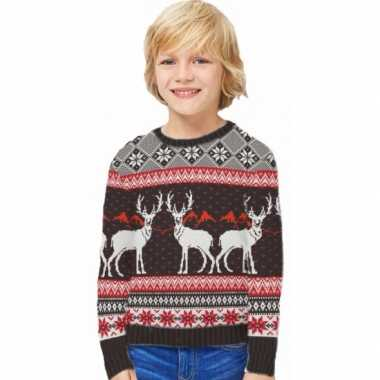 Goedkope foute kinder kersttrui happy reindeers