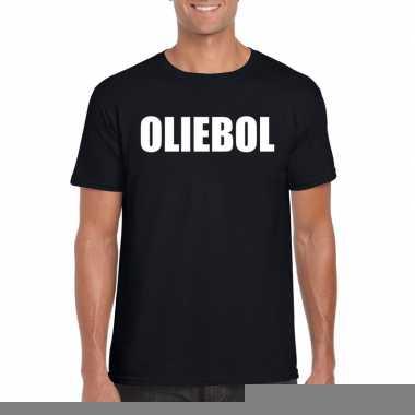 Goedkope foute oud en nieuw t shirt oliebol zwart voor heren