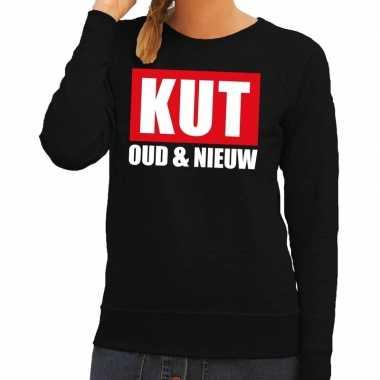 Goedkope foute oud en nieuw trui/ sweater kut oud en nieuw zwart voor