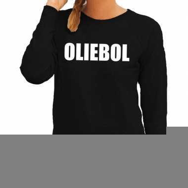 Goedkope foute oud en nieuw trui/ sweater oliebol zwart voor dames
