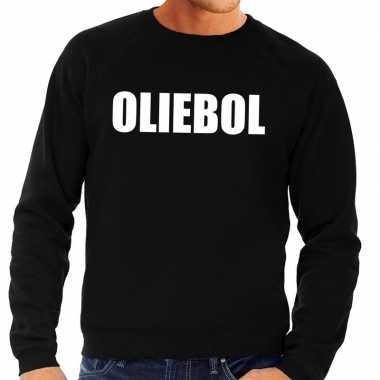 Goedkope foute oud en nieuw trui/ sweater oliebol zwart voor heren