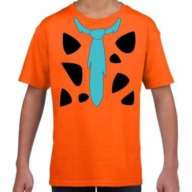 Goedkope fred lookalike holbewoner t-shirt voor jongens en meisjes