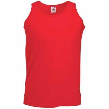 Goedkope fruit of the loom rode heren singlet mouwloos shirt