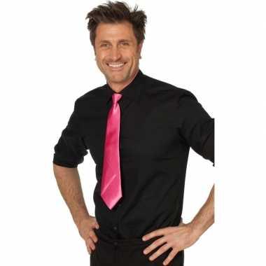 Goedkope fuchsia roze verkleed stropdassen 41 cm voor dames/heren