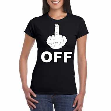 Goedkope fuck off shirt voor dames