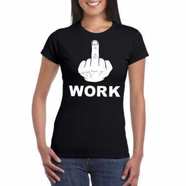 Goedkope fuck work t shirt zwart voor dames