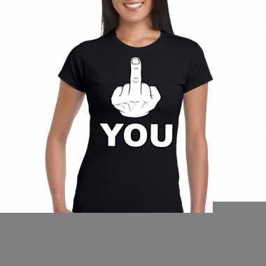 Goedkope fuck you shirt voor dames