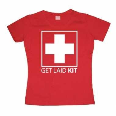Goedkope fun girly shirt get laid kit