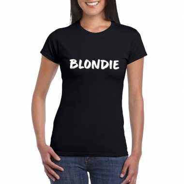 Goedkope fun t shirt blondie zwart voor dames