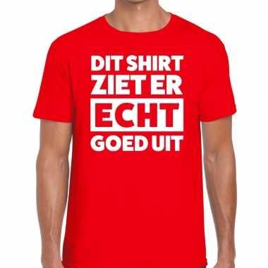 Goedkope fun t shirt dit shirt ziet er echt goed uit rood voor heren