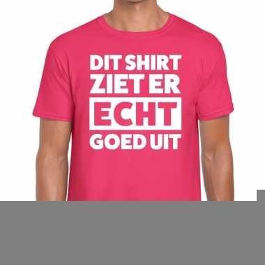 Goedkope fun t shirt dit shirt ziet er echt goed uit roze voor heren