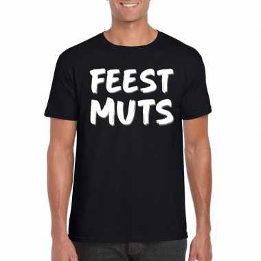 Goedkope fun t shirt feestmuts zwart voor heren