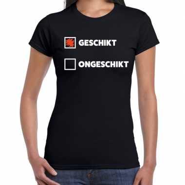 Goedkope fun t shirt geschikt ongeschikt zwart voor dames