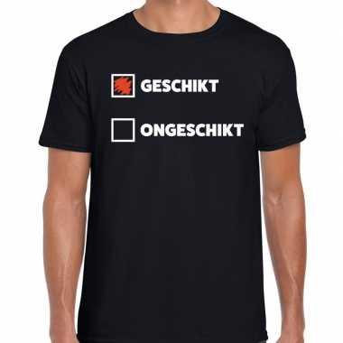 Goedkope fun t shirt geschikt ongeschikt zwart voor heren