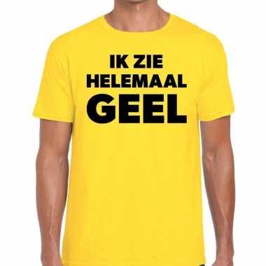 Goedkope fun t shirt ik zie helemaal geel voor heren
