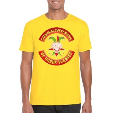 Goedkope fun t shirt limburgse carnavalsvereniging geel voor heren
