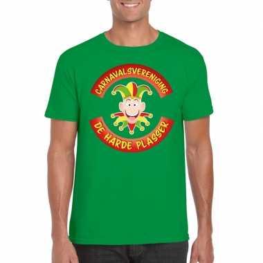 Goedkope fun t shirt limburgse carnavalsvereniging groen voor heren