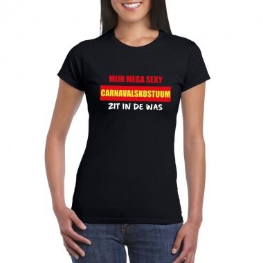 Goedkope fun t shirt sexy kostuum in de was zwart voor dames