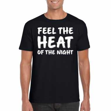 Goedkope fun tekst shirt voor heren feel the heat