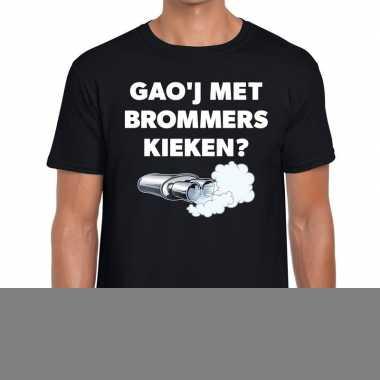 Goedkope gaoj met brommers kieken zwarte cross achterhoek t shirt zwa