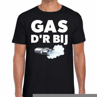 Goedkope gas der bij zwarte cross achterhoek t shirt zwart voor heren