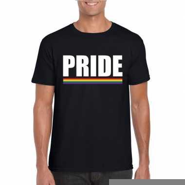Goedkope gay pride homo shirt zwart pride heren