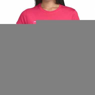 Goedkope gay pride knuffelbeer regenboog shirt roze dames