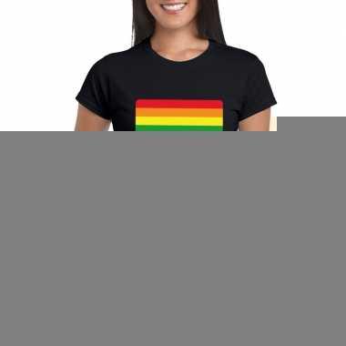 Goedkope gay pride t shirt regenboog vlag zwart dames
