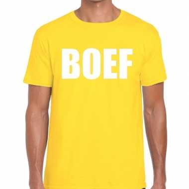 Goedkope geel boef fun t shirt voor heren